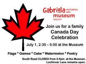 An Old Fashioned Canada Day at the Gabriola Museum
