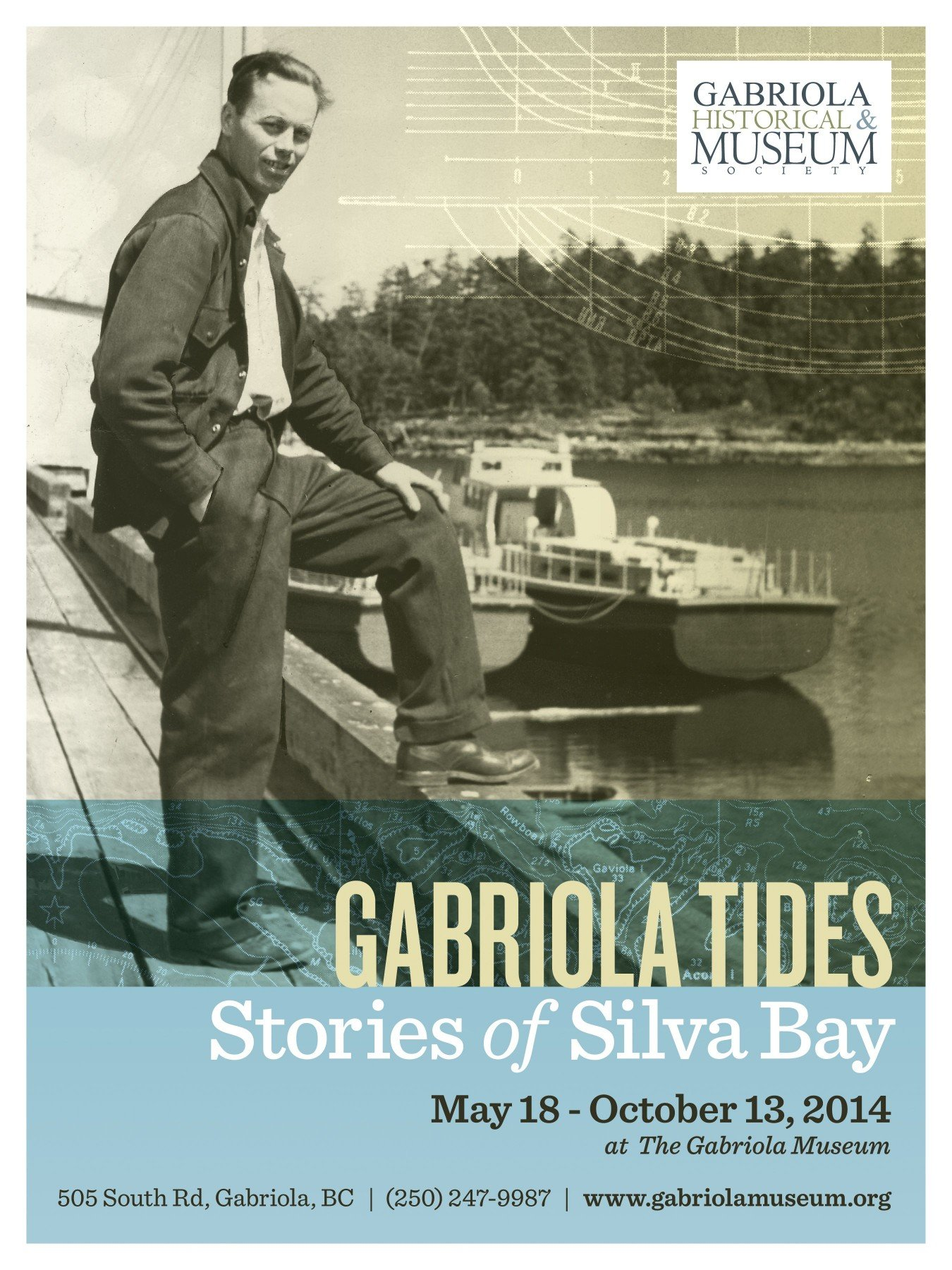 Poster for Gabriola Tides exhibit