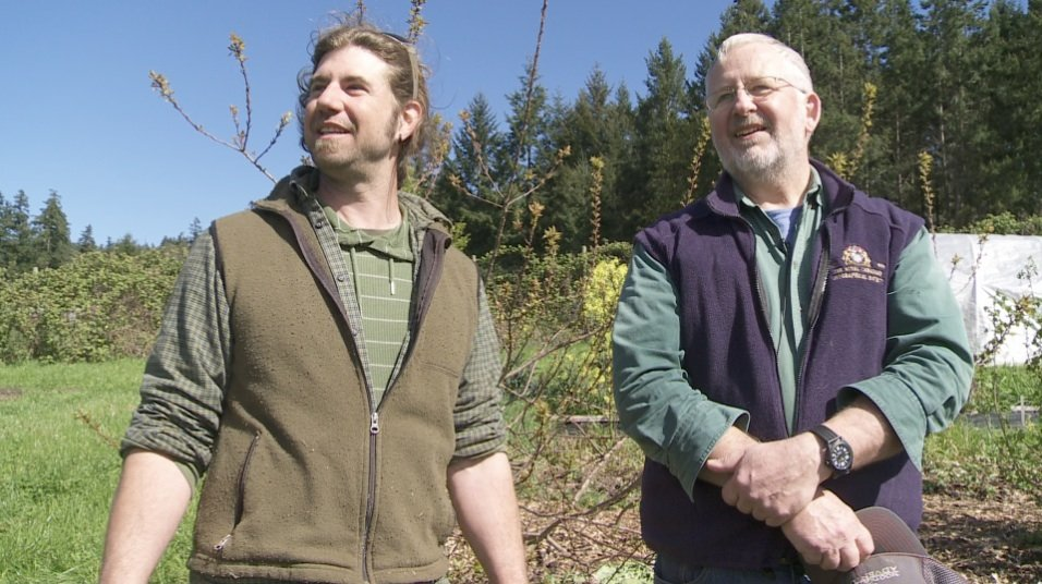 Gabriola Farmers John Peirce and Stephen Levesque