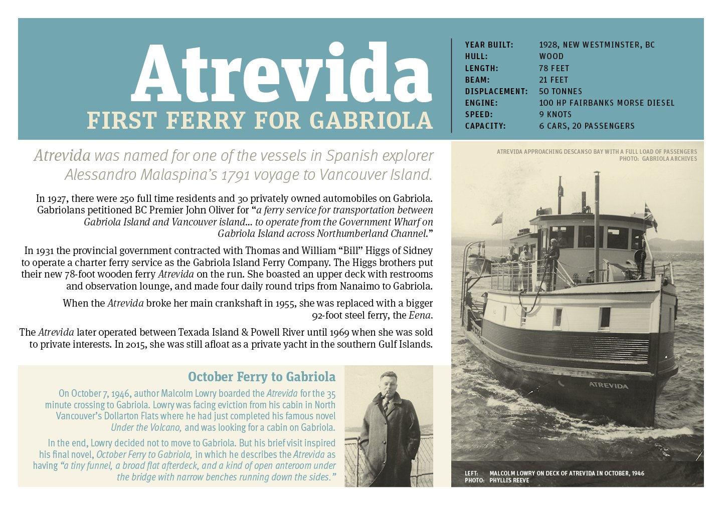 poster of first Gabriola ferry