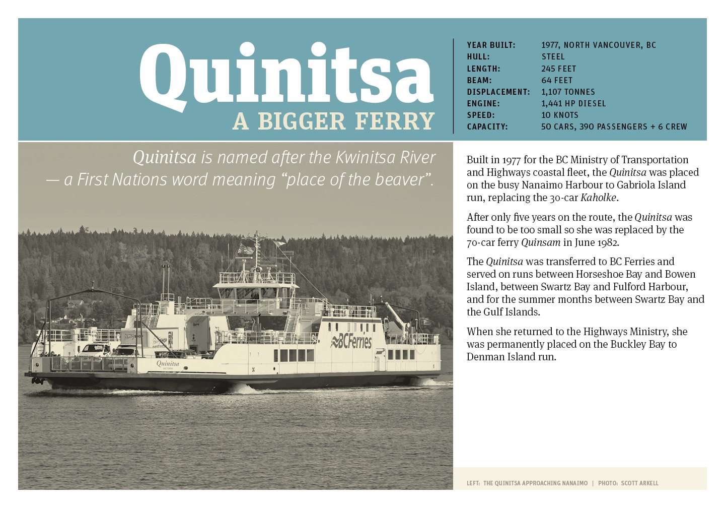 Poster of #4 Gabriola ferry, Quinitsa