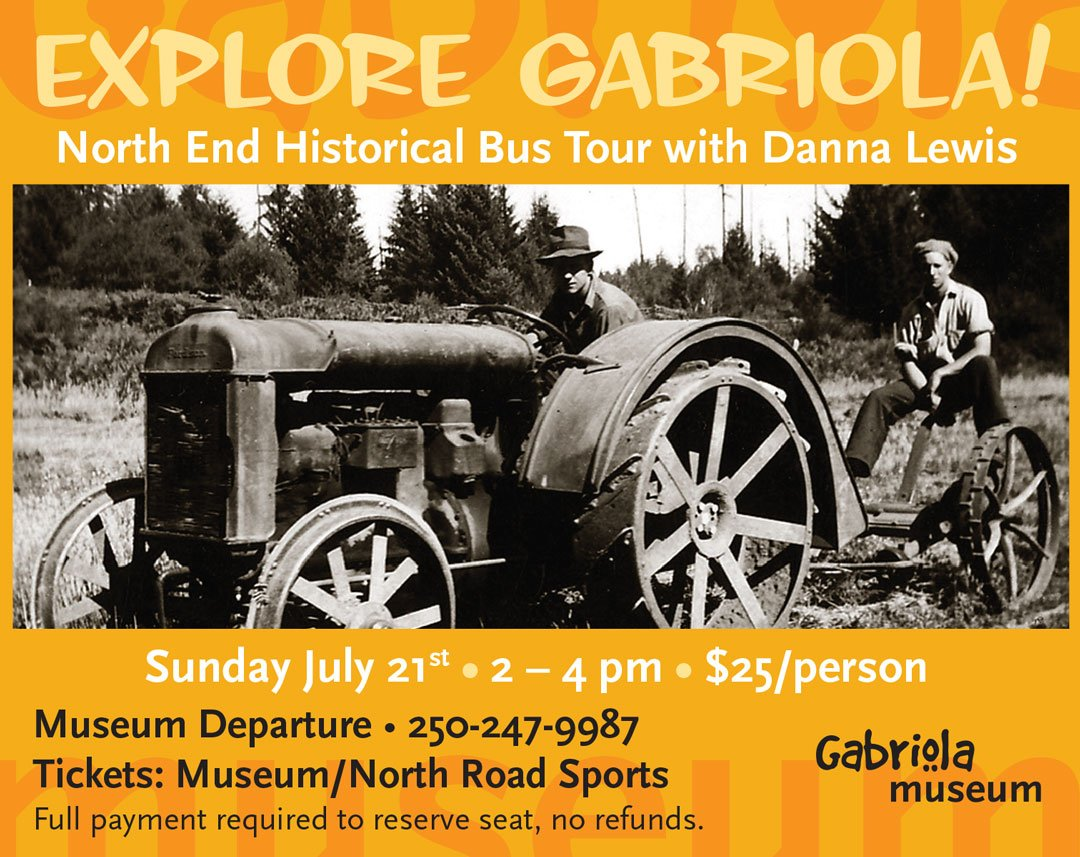 Gabriola Historical Bus North End Tour
