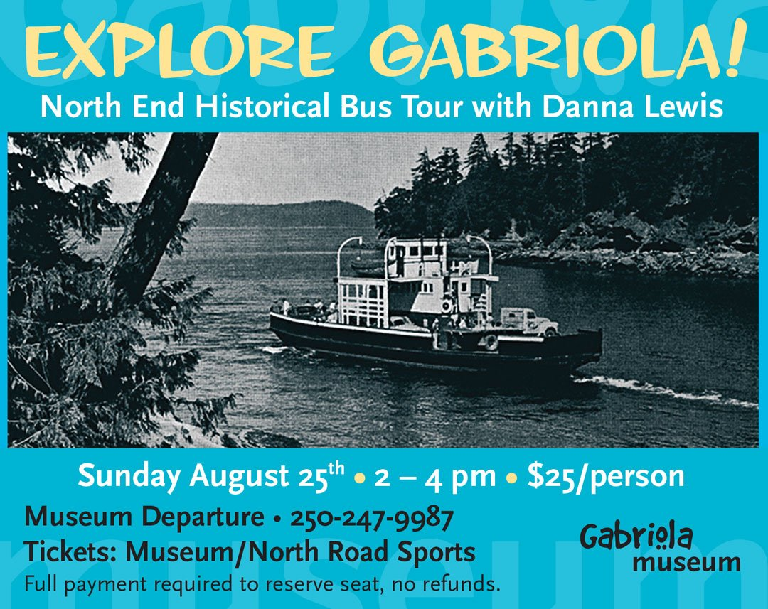 Gabriola Historical Bus North End Tour